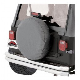 Housse de roue de secours GRISE - taille de 27 à 29 pouces  (entre 68 et 75 cm) - Jeep Wrangler YJ, TJ & CJ -- TC272909