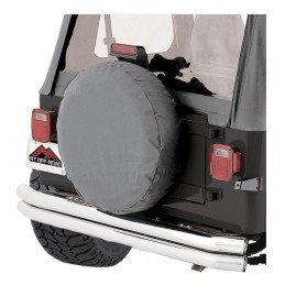 Housse de roue de secours GRISE - taille de 30 à 32 pouces (entre 76 et 82 cm) - Jeep Wrangler YJ, TJ & CJ -- TC303209
