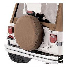 Housse de roue de secours CAMEL / SPICE - Taille 33 à 35 pouces (entre 83 et 89cm) - Jeep Wrangler YJ, TJ, JK & CJ -- TC333537