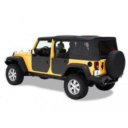 Panneaux de porte arrière en acier peint noir epoxy Jeep Wrangler JK 2007-2018 -- 51804-01
