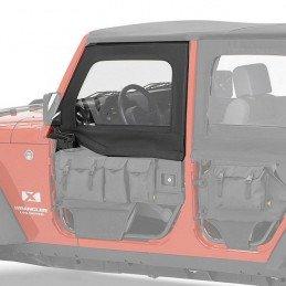 Fenêtres / Haut de portes Avant amovibles pour demi-portes tubulaires (gauche+droite) Jeep Wrangler JK 2007-2018 -- 51805.35
