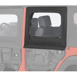 Fenêtres / Haut de portes Arrière amovibles pour demi-portes tubulaires (gauche+droite) Jeep Wrangler JK 2007-2018 -- 51806.35