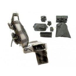 Kit housses de sièges avant Jeep Wrangler JK, JL 2007- 2019, 7 sacoches, couleur Noir, Marque Smittybilt -- 5661024