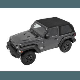 Bâches Jeep Wrangler JL 2 portes 2018-2019, Trektop Bestop, bâche Sergé Noir -- 56862-17