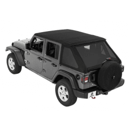 Bâches Jeep Wrangler JL 4 portes 2018-2019, Trektop Bestop, Noir satiné -- 56863-35