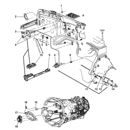 Ressort de fourchette d'embrayage  Jeep Wrangler JT, JL, JK, TJ, YJ, Cherokee XJ, KJ, KK, Grand Cherokee ZJ 1993-2020 -- 4338855