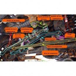 Amortisseur de Direction - RUBICON EXPRESS - Jeep Wrangler YJ,TJ 87-06 / Cherokee XJ 84-01 / Grand Cherokee ZJ 93-98 -- RXT2000