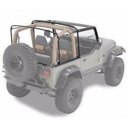 Kit Arceaux de bâche complet pour Jeep Wrangler YJ 1987-1995 pour bache d'origine avec demi-portes -- HK8795YJ