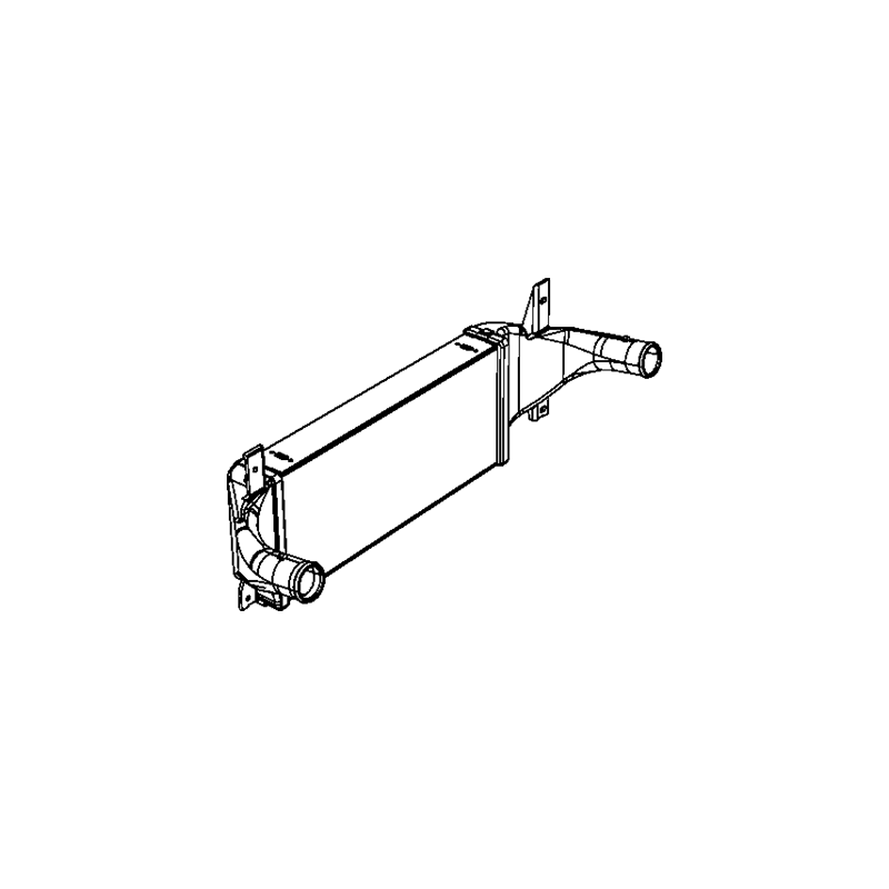 Échangeur d'air - intercooler - Jeep Wrangler JK 2,8L CRD 2007-2015 - 55056636AB