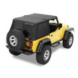 Bâche Noire Jeep Wrangler TJ Bâche BESTOP Trektop NX Black Denim -- 56820-15