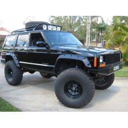 Kit rehausse +90mm avec 4x amortisseurs + 2x lames + 2x ressorts + acc. RUBICON EXPRESS - Jeep Cherokee XJ 84-01 // RE6025RXJ