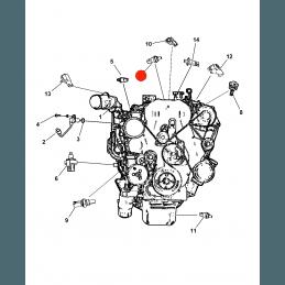 Capteur de température de liquide de refroidissement Jeep Compass MK 2010-2014 -- 68068747AC