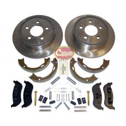 Kit Disques+ plaquettes+ ressorts frein Ar Jeep Wrangler TJ 2003-2006