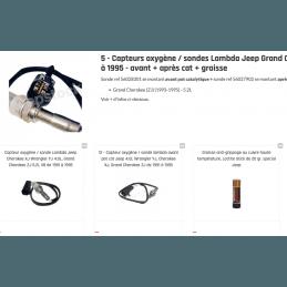 Capteur oxygène / sonde Lambda Jeep Grand Cherokee ZJ 5.2L Capteur oxygène / sonde Lambda Jeep Ref 56027902 (n°12) : Modèle à 4