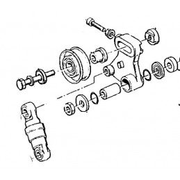 Tendeur de courroie occasion Jeep Cherokee XJ - Grand-Cherokee ZJ 2.5L diesel 1995-1996