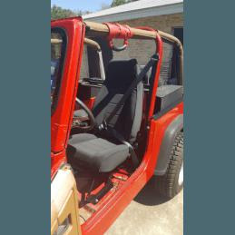 Siège avant style YJ - NOIR JEAN - Jeep Wrangler YJ 87-95 / TJ 97-02 / CJ 76-86  // 13402.15