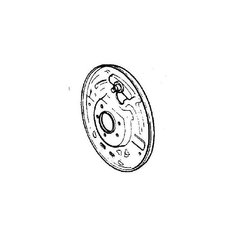 Flasque de frein Arrière Gauche - NON ABS - Jeep Wrangler YJ 1990-95 / TJ 1997-06 / Cherokee XJ 1990-2001 // 05017761AA