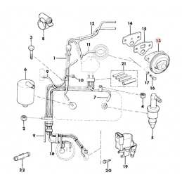 Vanne / Valve EGR - Jeep Wrangler YJ 2.5L, 4.2L 87-90 / Cherokee XJ 2.5L, 4.0L 87-90 // 53002483
