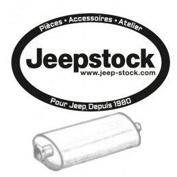 Silencieux d'échappement Arrière - Jeep Cherokee XJ 2.5L, 4.0L  1993-2001 avec sortie 2 pouces // CM21