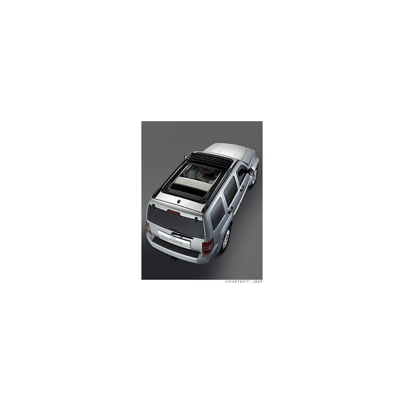 Bâche de toit Jeep Cherokee KK 2008 - 2010 -SKY SLIDER Noire + mécanisme - 68032422AG