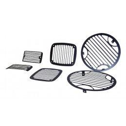 Grilles de protection en aluminium noir  Jeep Wrangler TJ 1997-2006 -- RT26048