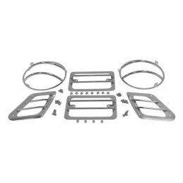 Grilles de protection en acier pour optiques avant Jeep Wrangler TJ 1997-2006 -- RT34054