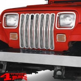 Grilles de protection en acier inox usiné Jeep Wrangler YJ 1987-1995 -- RT34048