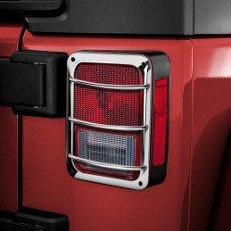 Grilles de Protection de feux Arrière Jeep Wrangler JK en acier inox avec vis de fixation