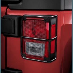 Grilles de protection feux arrière Jeep Wrangler JK en métal noir avec vis de fixation