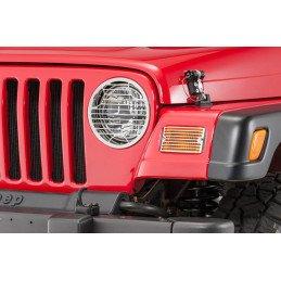 Grilles de protection Jeep Wrangler TJ en acier inox usiné avec vis de fixation