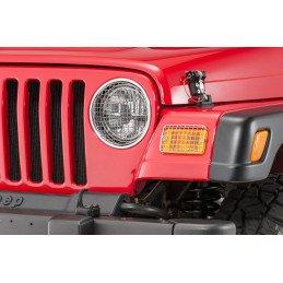 Grilles de protection Jeep Wrangler TJ en acier inox avec vis de fixation