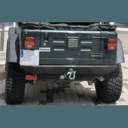 Pare-choc Arrière tout-terrain RT Off-Road noir satiné, en Acier renforcé Ep 5 mm - Jeep Wrangler TJ 97-06 / YJ 87-95 // RT20003