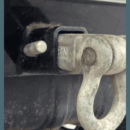 Goupille d'attelage Toutes Jeep, pour fixation crochet d'attelage