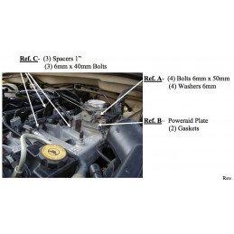 ▷cale corps papillon Throttle Body Spacer Jeep 2.5l, & 4.0L 1991-2006