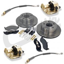 * Kit frein avant Jeep Wrangler YJ 1987 à 1989 disques + plaquettes + étriers + flexibles + accessoires