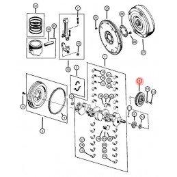 Poulie damper / amortisseur harmonique moteur - Jeep 4.0L 1987 à 2004 // 33002920