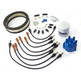 Kit entretien moteur Jeep Wrangler YJ 4.2L 87-90 allumage, tête, doigt, fils, bougies, filtre air, huile, carburant / TK1