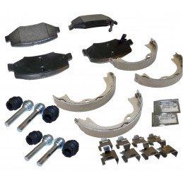 Plaquettes de frein arrière Jeep Cherokee KK, avec mâchoires et accessoires