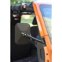 Rétroviseurs carrés sur montant pare-brise Jeep Wrangler 1976-2018