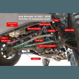 Barre Panhard Jeep Wrangler JK   avant
