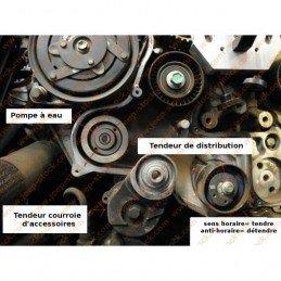 Pompe à eau + joint - Jeep Cherokee KJ 2.5L, 2.8L 2002-2004 / KK 2.8L 2010 / Wrangler JK 2.8L CRD 2008 // 5093911AB