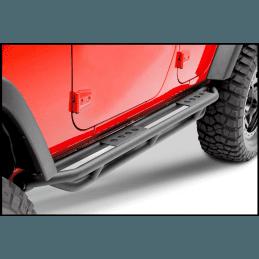 Marche-pieds Smittybilt Jeep Wrangler JK 4 portes, noir texturé