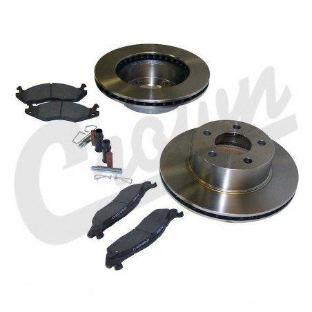 *Disques de freins avant Jeep Wrangler YJ de 1987 à 1989 , Qualité origine avec plaquettes + accessoires