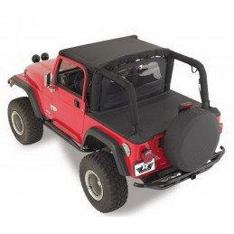 Bâches Jeep Wrangler YJ de 1992 à 1995 , 2 places , Noir Jean