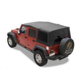 Bâche de remplacement Jeep Wrangler JK de 2011 à 2018, 4 portes, Noir vinyl