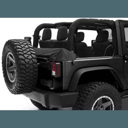 Couvre Benne Jeep Wrangler JK baché, 2 portes , Noir vinyl