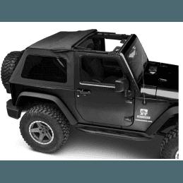 Bâche de remplacement Jeep Wrangler JK 2 portes, Toit ouvrant, Noir vinyl