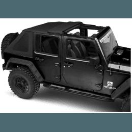 Bâche Jeep Wrangler JK 4 portes, Toit ouvrant, Noir vinyl