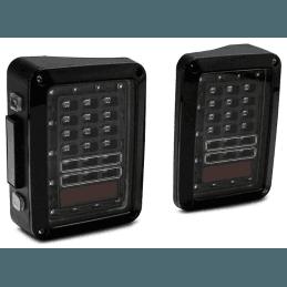 Feux arrière LED Jeep Wrangler JK , Noir et Transparent