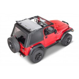 Bâche Jeep Wrangler TJ | BESTOP Trektop NX | noire diamond